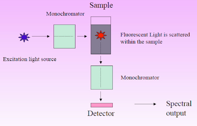 Instrumentation of Fluorescence Spectroscopy spectrofluorometer  and process