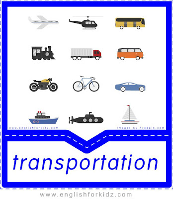 printable transportation flashcards with pictures