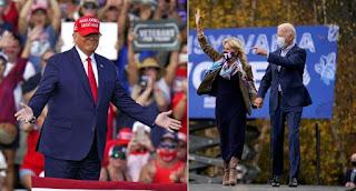 Trump rallies Vs Biden rallies