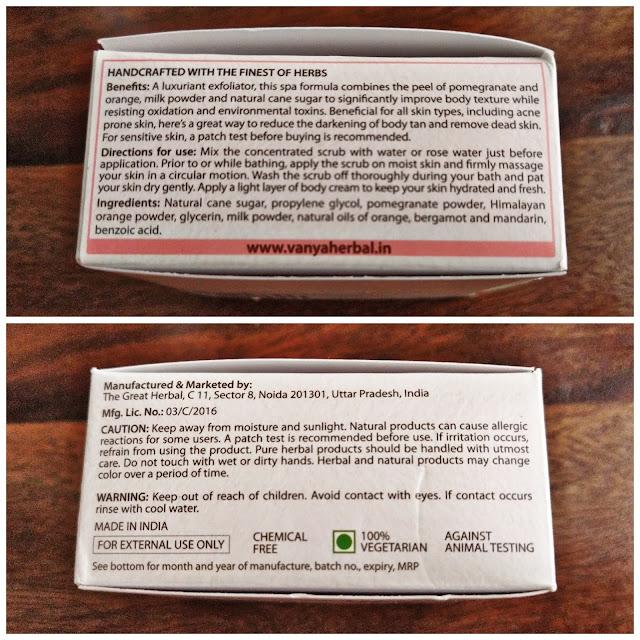 vanya herbals review cruelty free, vegan, paraben free products