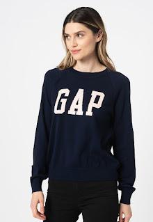 Дамски фино Пуловер с ръкави реглан - Gap