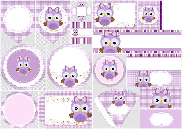 Kit De Lechuza Púrpura Para Imprimir Gratis Oh My 15 Años
