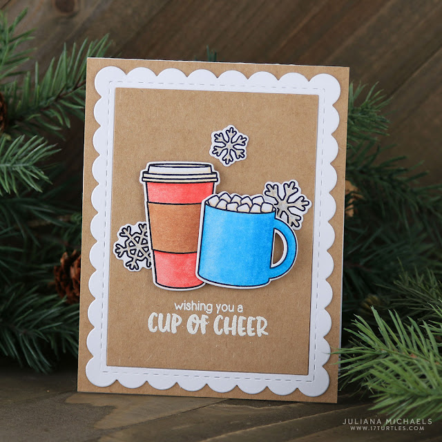 Sunny Studio Stamps: Mug Hugs Cup of Cheer Christmas Card by Juliana Michaels.