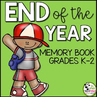 End of Year Memory Book K-2