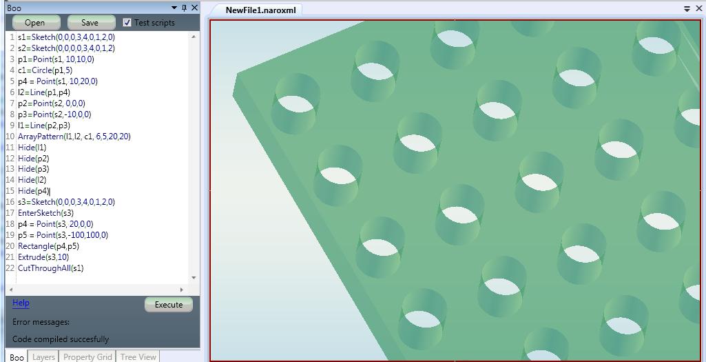 3D Application Development: Test shapes and copy/paste