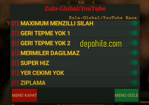 Zula Mobile Türkçe Menu Speed, Sekmeme Hileli Apk Mayıs 2020