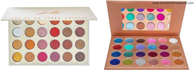 Jolie Beauty glitter palettes