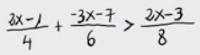 14.Inecuación de primer grado (fracciones) 1