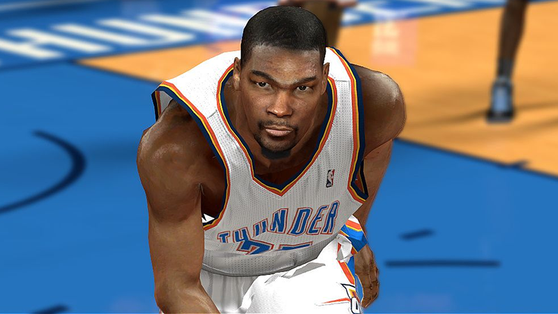 NBA 2K14 Kevin Durant Cyberface Patch