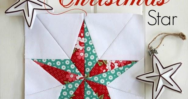 Christmas Star- Free Quilt Block Pattern