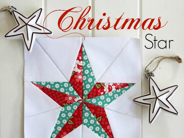 Christmas Star- Free Quilt Block Pattern
