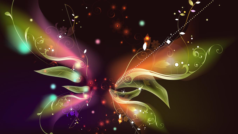 Neon Butterfly Desktop Background: ImagesList.com: Wallpapers With Butterflies 3