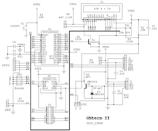 Microcontroller Notebook: LCD Terminal, the GMterm II