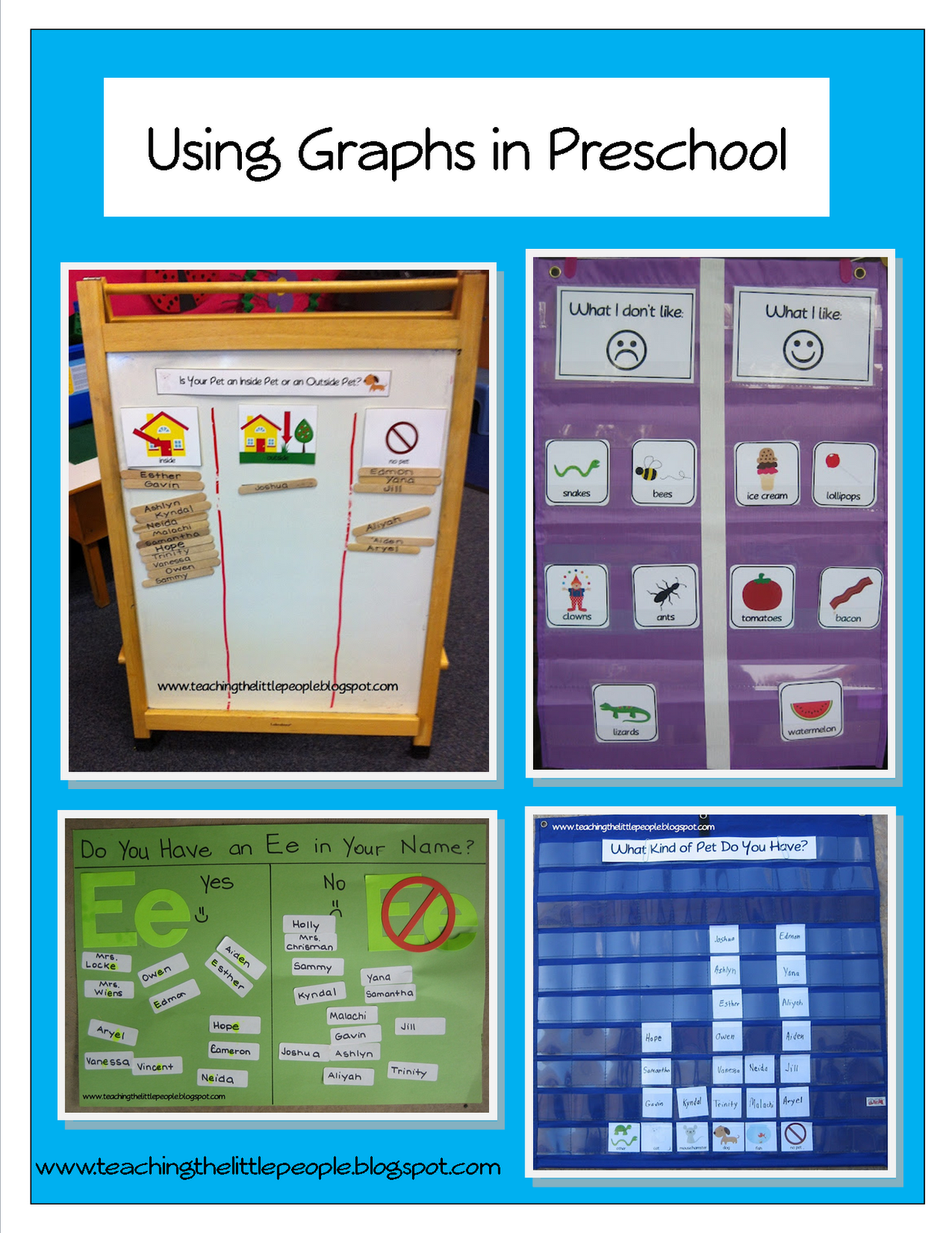 Using Graphs In Preschool Teaching The Little People