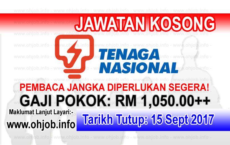 Jawatan Kerja Kosong TNB - Tenaga Nasional Berhad logo www.ohjob.info september 2017