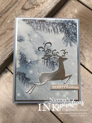 By Angie McKenzie for JOSTTT012 Design Team Inspirations; Click READ or VISIT to go to my blog for details! Featuring the Feels Like Frost Specialty DSP and the Detailed Deer Dies; #handmadecards #christmascards #reindeer #silver #feelslikefrostspecialtydsp #christmasmasgleamingstampset #detaileddeerdies #josttt012 #simplestamping #loveitchopit