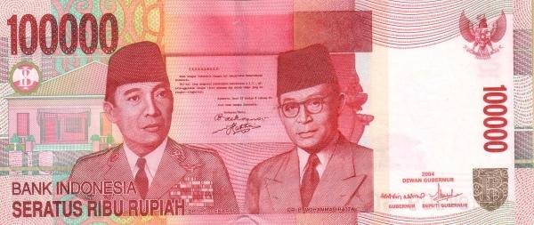 100 ribu rupiah 2004 depan