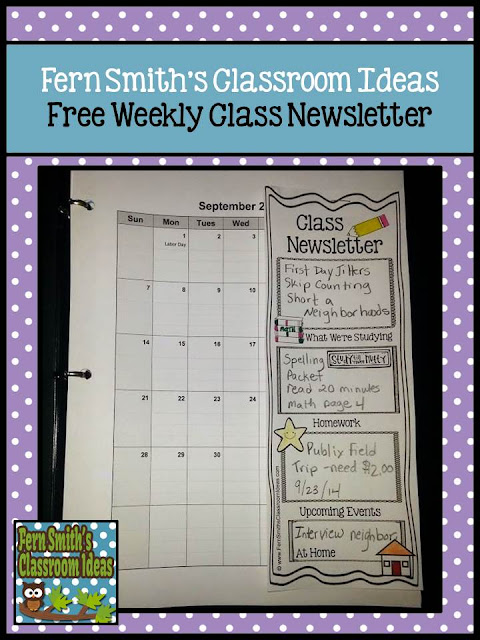"Are you tired of parents saying ""we didn't know or we didn't read your newsletter"" when you talk to them? Let the student's fill out this FREE Classroom Newsletter every Monday morning and they will guarantee that their parents will read their own, personal NEWSPAPER! For more Parent Communication tips and resources, pin this post for later! Perfect for First, Second, Third, Fourth, Fifth and even Sixth Grade."