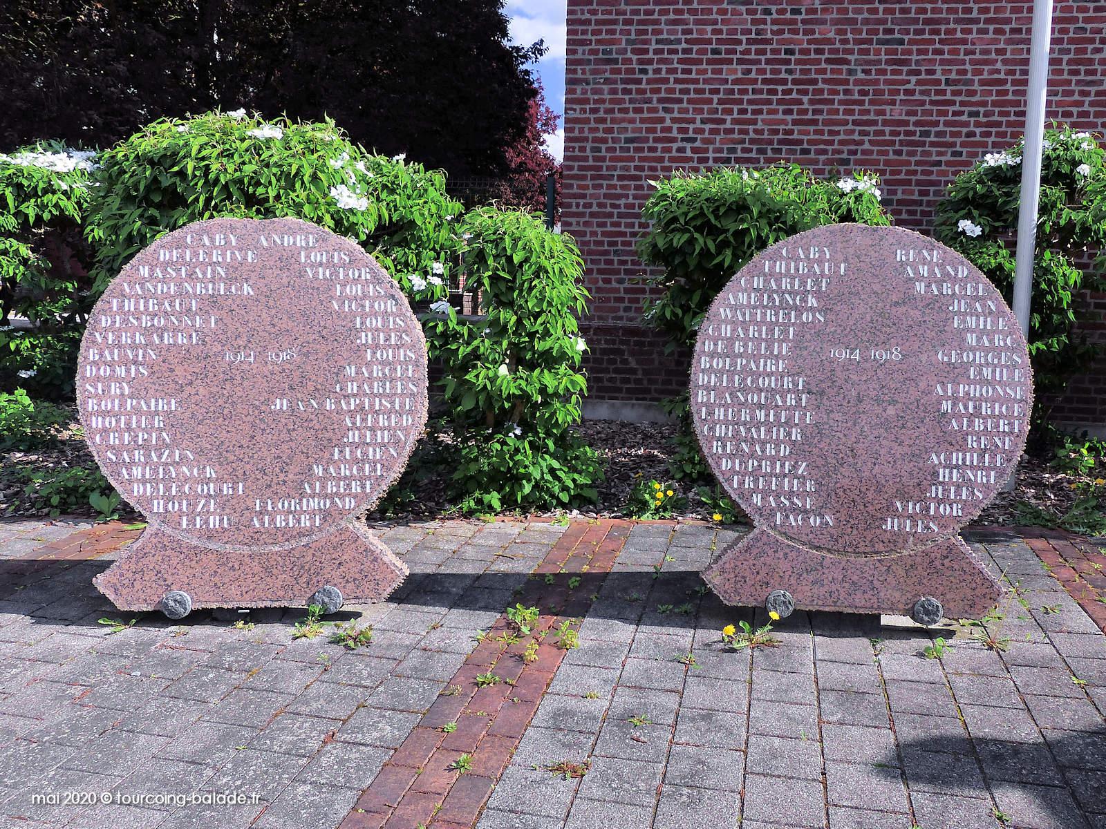 Stèle Monument aux Morts, Templemars 2020