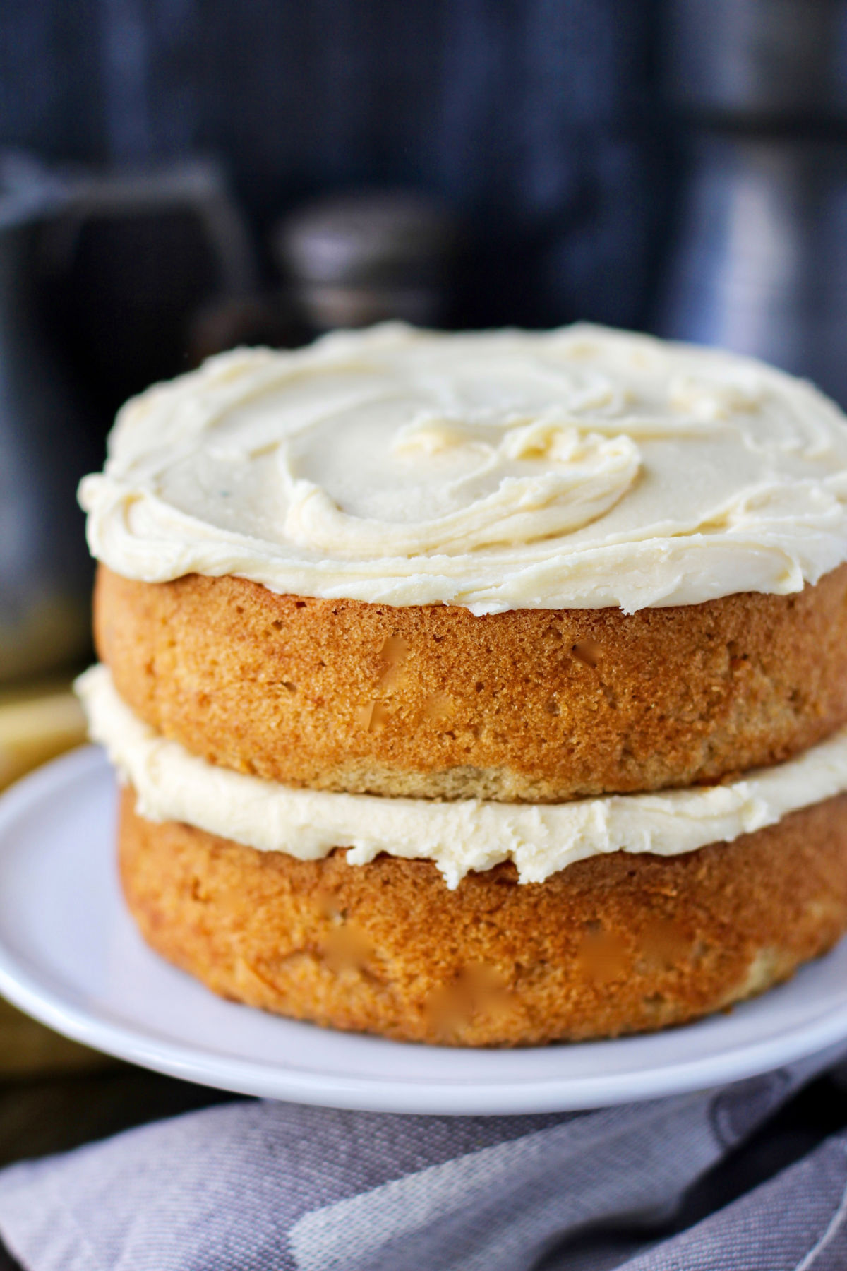 Maple cake with maple frosting.