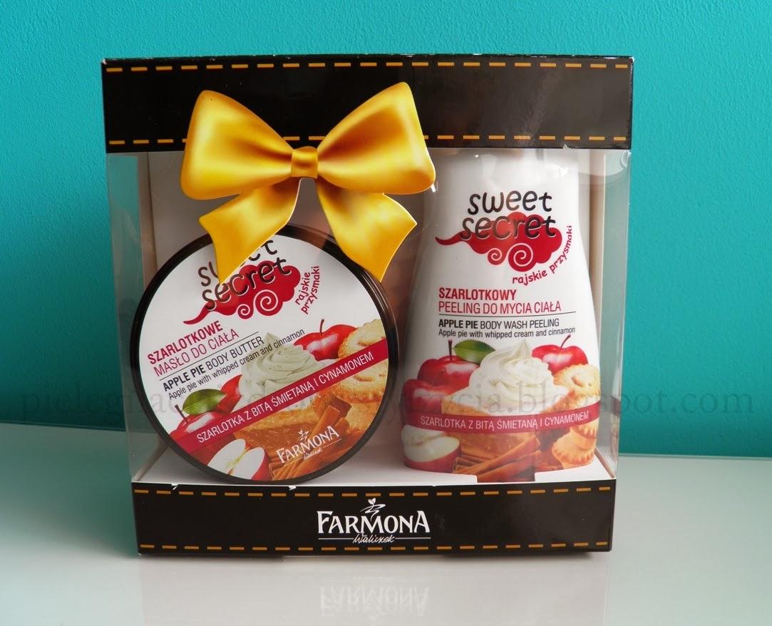 Szarlotkowe przyjemności od Farmony - peeling i masło Sweet Secret