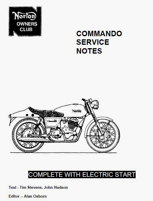 Norton Commando Service Notes NOC