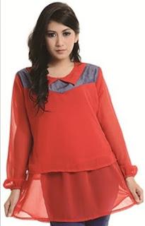 Model Baju Blus Bahan Sifon Dan Baju Gamis, Atasan Bahan Sifon Terbaik