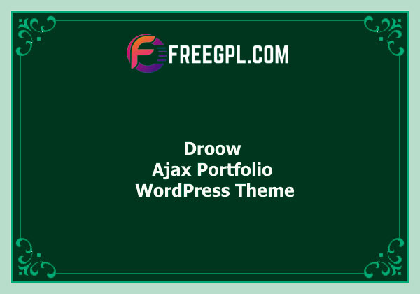 Droow - Ajax Portfolio WordPress Theme Nulled Download Free