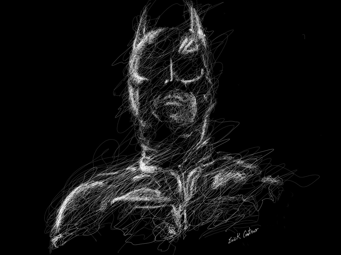 01-Batman-Christian-Bale-Erick-Centeno-Superheroes-Celebrities-and-Cartoons-Scribble-Drawings-www-designstack-co