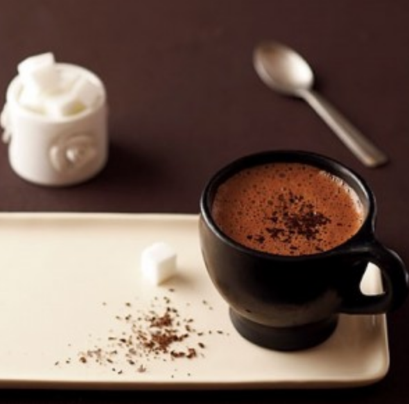 Hot cocoa drink without milk