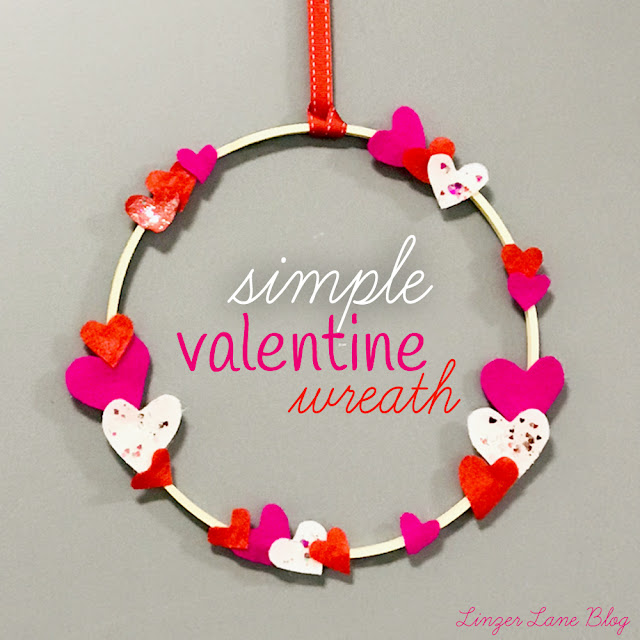 Simple Valentine Wreath | Linzer Lane Blog