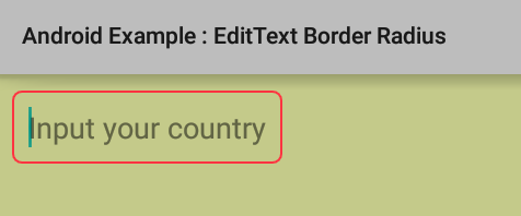 How to create rounded corners EditText in Android