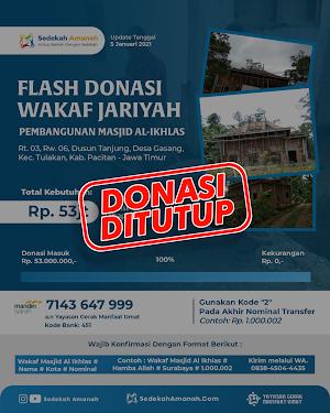 Open Donasi Pembangunan Masjid Al-Ikhlas Tahap #3