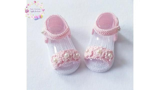 Aprende a Tejer Sandalias Rosi de Bebé a Crochet