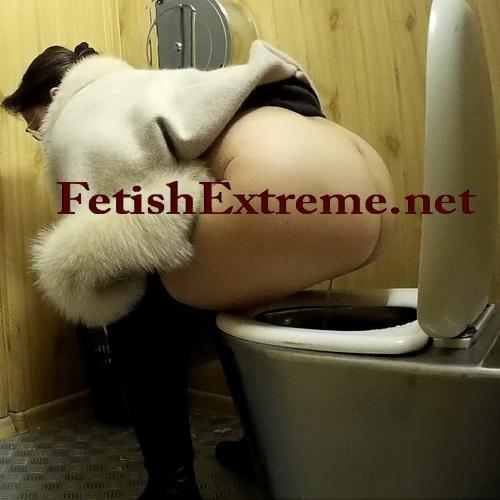 Women's toilet pissing spy cam video starring several ladies (Street Toilet 15)