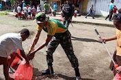 Peringati Hari Sampah Nasional, Satgas 754 Bangun Rasa Cinta Lingkungan Masyarakat