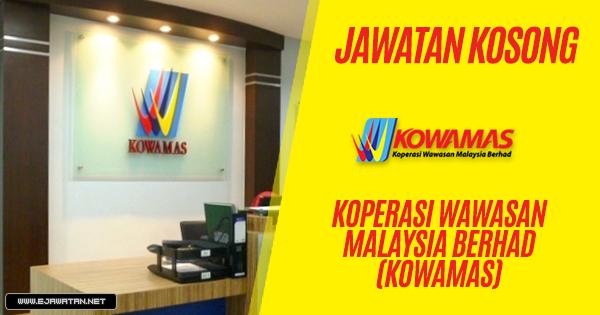 jawatan kosong Koperasi Wawasan Malaysia Berhad (KOWAMAS) 2019
