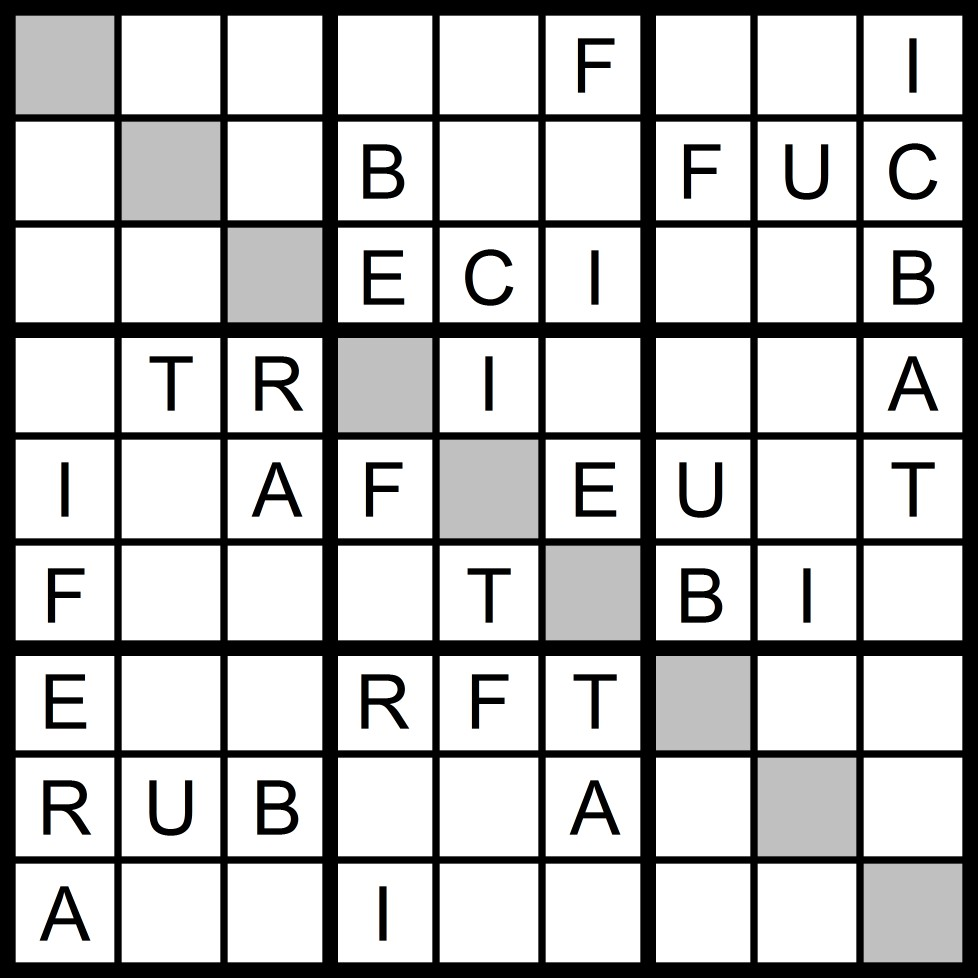 Magic Word Square: New Word Sudoku Puzzle for Tuesday, 2/7/2017