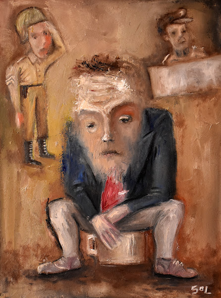 Poor rich man, oil painting