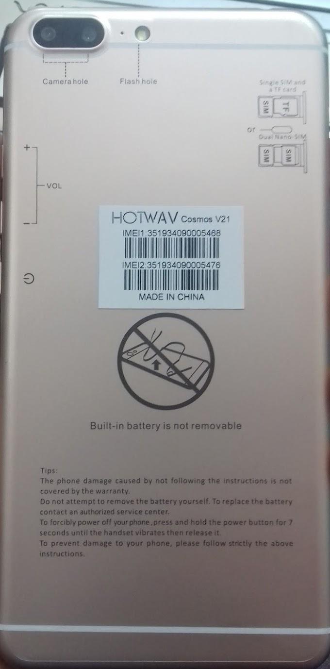 HOTWAV COSMOS V21 FLASH FILE
