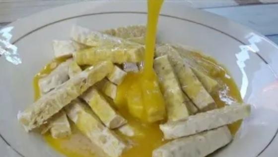 Tempe dan telur goreng