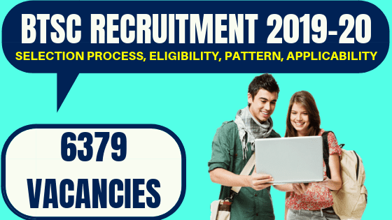 Bihar Junior Engineer Recruitment 2019, BTSC JE 6379 vacancies Details