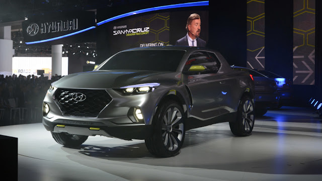 Hyundai SantaCruz - xe bán tải của Hyundai lộ thiết kế