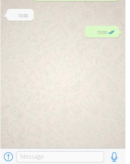 How to send a blank message in WhatsApp