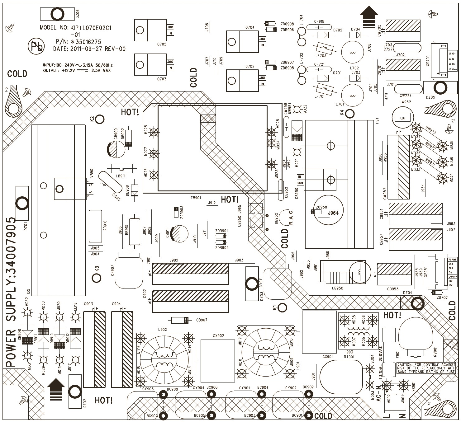 KONKA LED LCD TV 32HS05 - SMPS SCHEMATIC