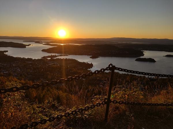 solnedgang dronningveien krokkleiva hole