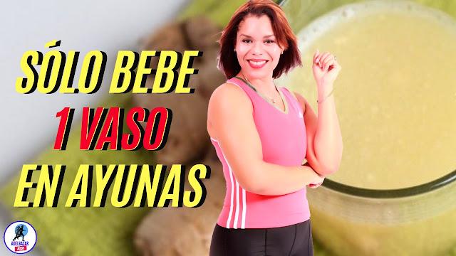 Bebida para Quemar Grasa Corporal a base de Jengibre con limón