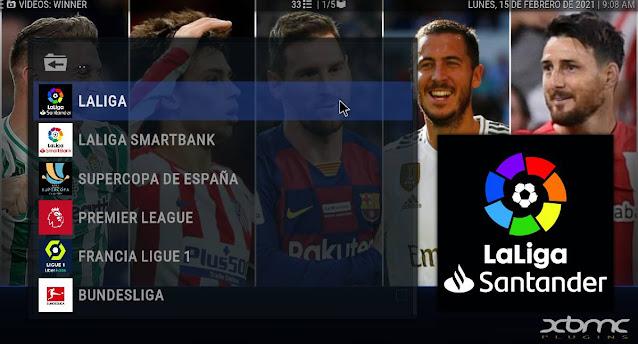 Liga Española Futbol addon KODI