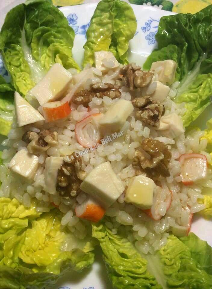 La cocina de beli mar ensalada de arroz con lechuga - Ensalada de arroz light ...