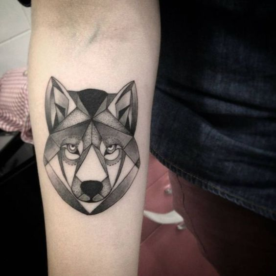 Geometric Wolf Tattoos